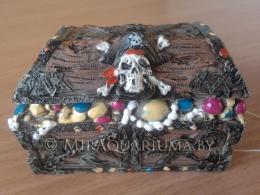 Penn-Plax - Сундук, череп и кости, код RR706