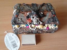 Penn-Plax - Сундук, череп и кости, код RR709