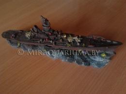 Корабль линкор - декор аквариума фото