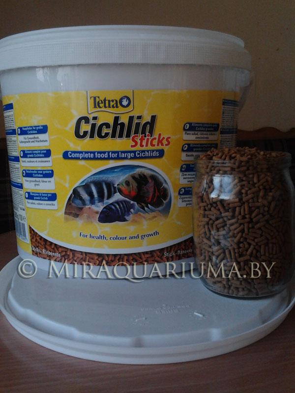 Корм для крупных рыб Тетра Цихлид Стик в виде палочек