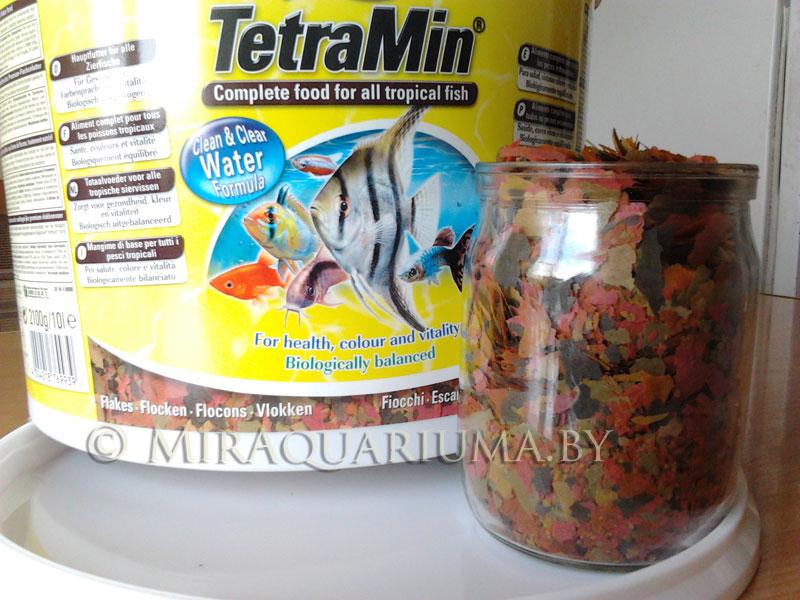 Корм для аквариумных рыб ТетраМин в виде хлопьев