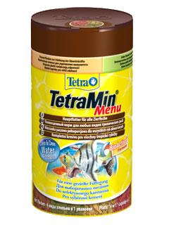4 различных видов корма TetraMin